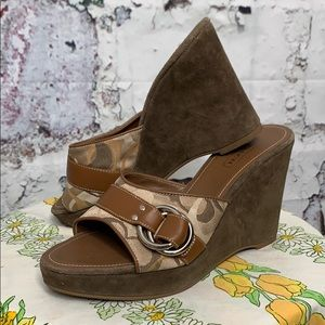 Coach merridith wedges size 8.5